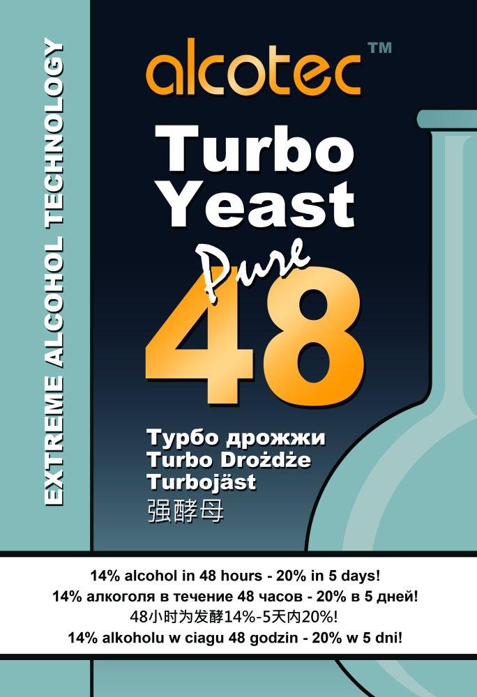 Дрожжи спиртовые Alcotec Carbon 48 Turbo
